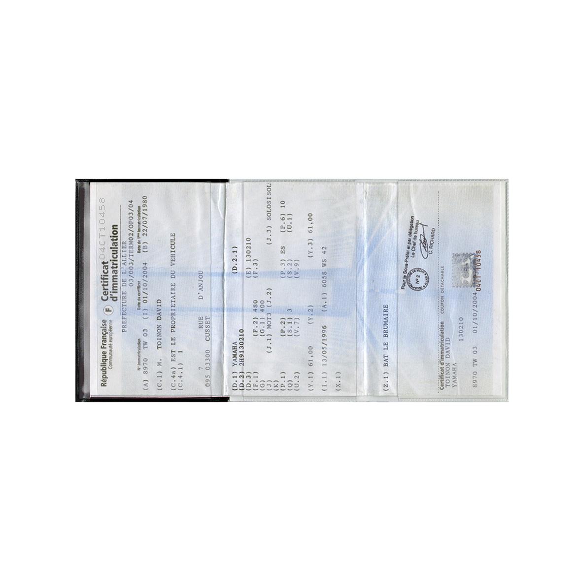 porte carte grise made in france cotwa20a objets publicitaires pour automobiles fabriqu s en. Black Bedroom Furniture Sets. Home Design Ideas
