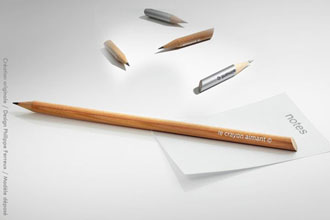 crayon publicitaire made in France Aimant