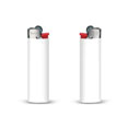 briquet personnalise slim lighter blanc