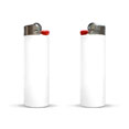 briquet publicitaire maxi lighter blanc
