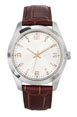 montre homme publicitaires made in france marron