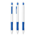 stylo personnalisable bic matic grip metallic blanc  bleu