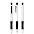 stylo personnalisable bic matic grip metallic blanc  noir