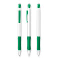 stylo personnalisable bic matic grip metallic blanc  vert